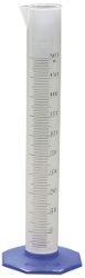 Cylinder, graduated, polypropylene, 50 mL +-0.6 mL, 1.0 mL divisions